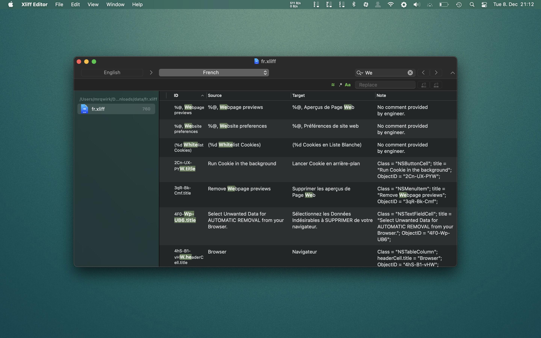 Xliff Editor 2.9.1 Mac 破解版 - XLIFF文件编辑工具